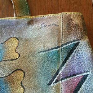 Sova Bags   Hand Painted Leather Bag   Poshmark 812a88bac7