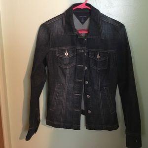 TOMMY HILFIGER dark wash denim jacket