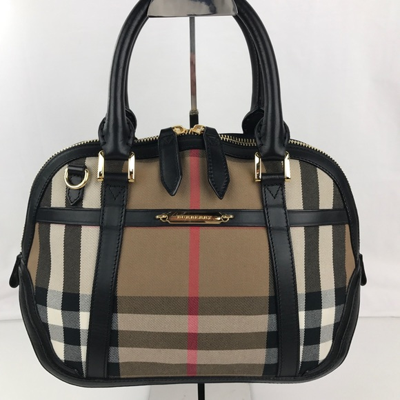 b16a5cd3a74c Burberry Small Bridle House Check Orchard Satchel
