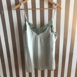 NWOT Zara Mint and Green Lace Cami