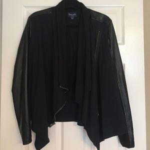 Splendid Cotton & Faux leather jacket