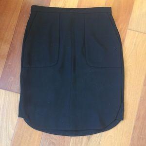 J. Crew Black Pencil Skirt Sz 00
