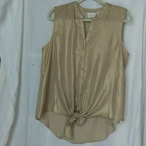 Gold poly top
