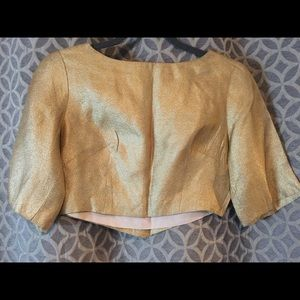 Tops - Vintage Gold lame crop top