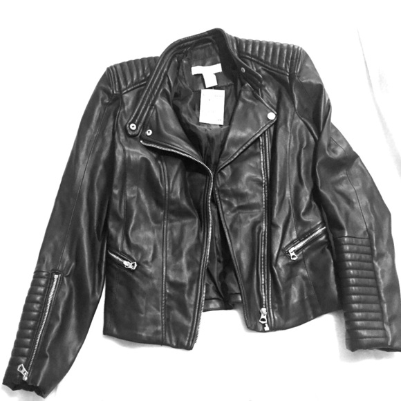Buy Authentic low price sale website for discount H&M women's leather jacket NWT