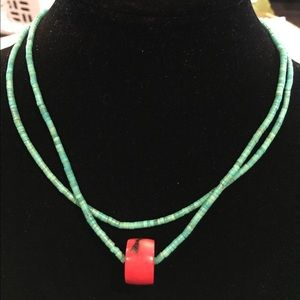 Jewelry - Turquoise and coral necklace