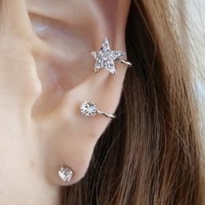 Jewelry - Coming Soon!! Crystal Star Double Ear Cuff