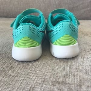 Nike Shoes - Turquoise & lime green toddler nikes