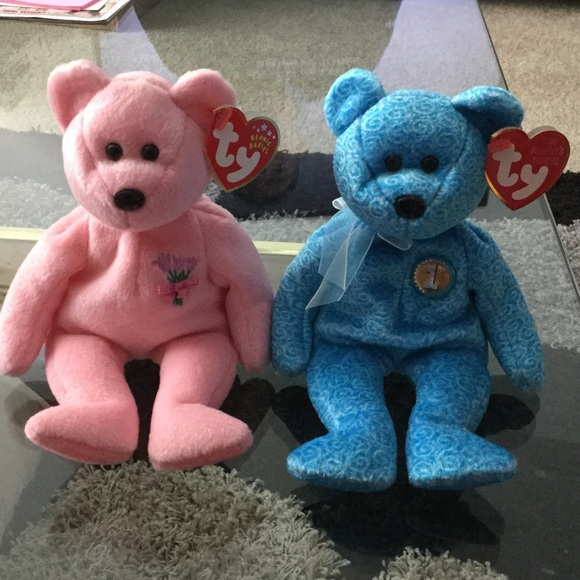 New TY beanie babies mum and classy bears 73934a57087