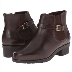 Ros Hommerson Shoes - Side Zip Leather Buckle Bootie