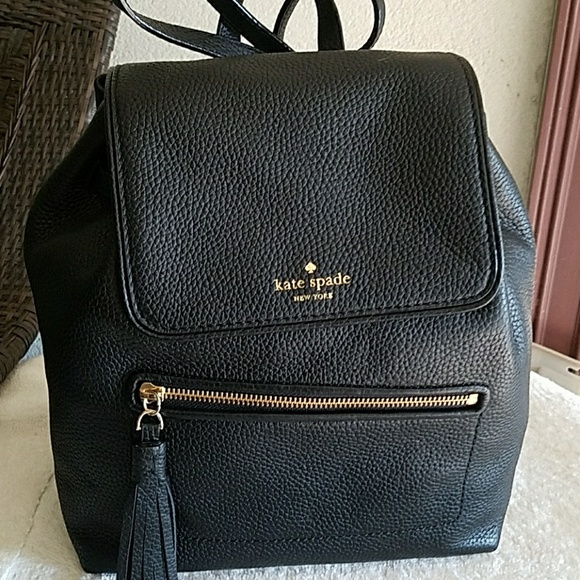 Nwt Kate spade Chester street black backpack purse c3a3969852daa