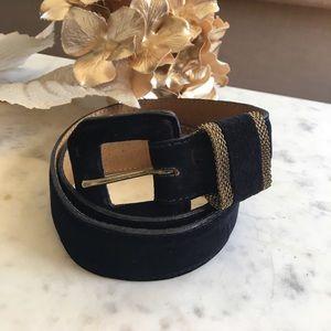 Vintage talbots leather waist belt