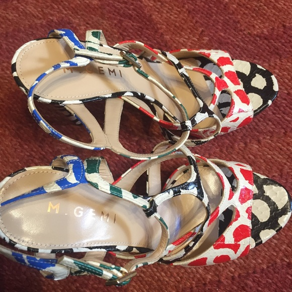M. Gemi Shoes - M. Gemi multicolor strappy sandal heels 37.5