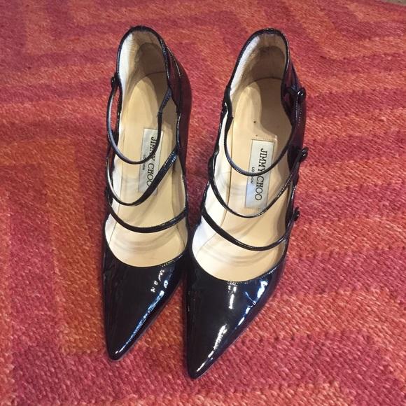 Jimmy Choo Shoes - Jimmy Choo black patent leather Mary Jane heels 36