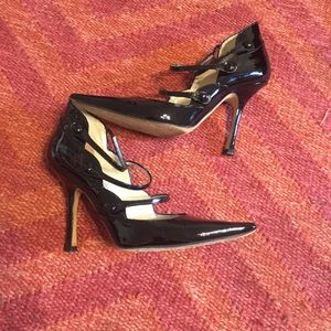 Jimmy Choo Shoes - Jimmy Choo black patent leather Mary Jane heels 36
