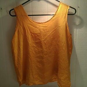 Silk, Marigold tank