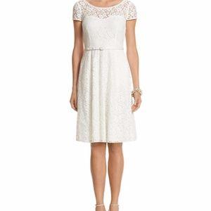 White House Black Market Size 2 Lace White Dress