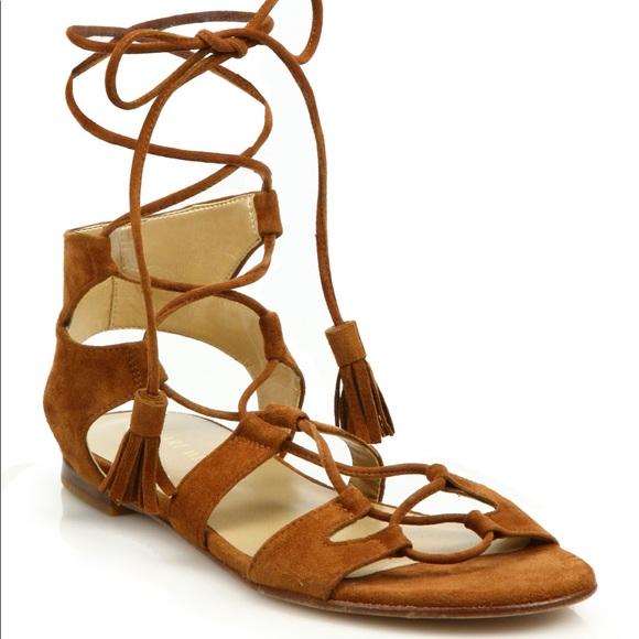 Stuart Weitzman Shoes - Stuart Weitzman ghillie romanflat laceup sandal 10