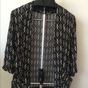 Ole by Koton black and white kimono