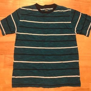 Other - Striped teal/black/white tee shirt Large 10-12