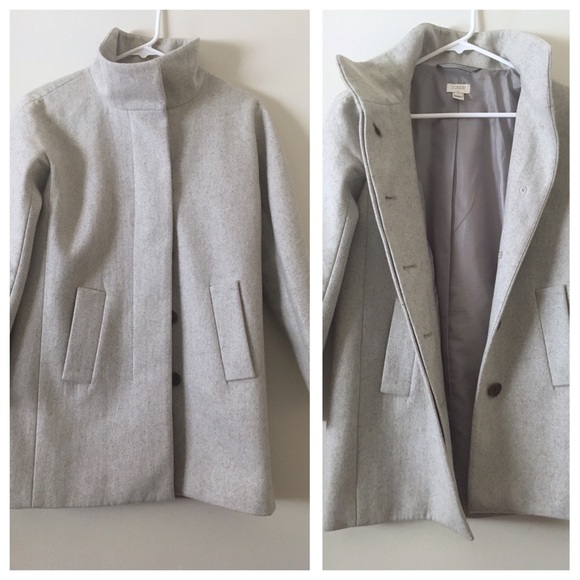 9e72819fc89b7 J. Crew Jackets   Blazers - J. Crew Factory City Coat grey 0p