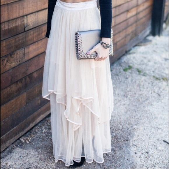 89228d9ca Free People Dresses & Skirts - Free People Keep Me Tutu blush tulle maxi  skirt 0