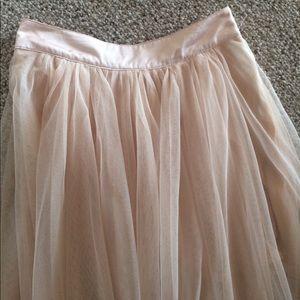 4f26bcbfe Free People Skirts - Free People Keep Me Tutu blush tulle maxi skirt 0