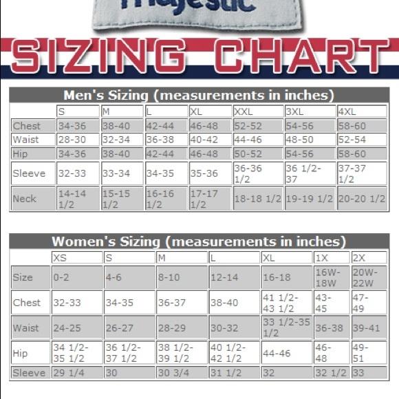 jersey sizes