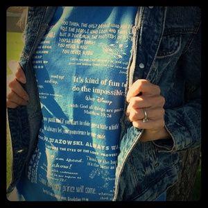 DISNEY CHRISTIAN Scripture Tee Shirt