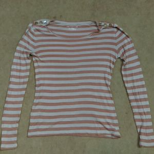 Rose-striped sweater by Ann Taylor