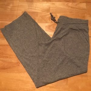 Pants - NWOT Gray petite drawstring lounge pants w/pockets