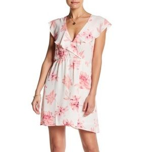 Pink and cream lush floral dress
