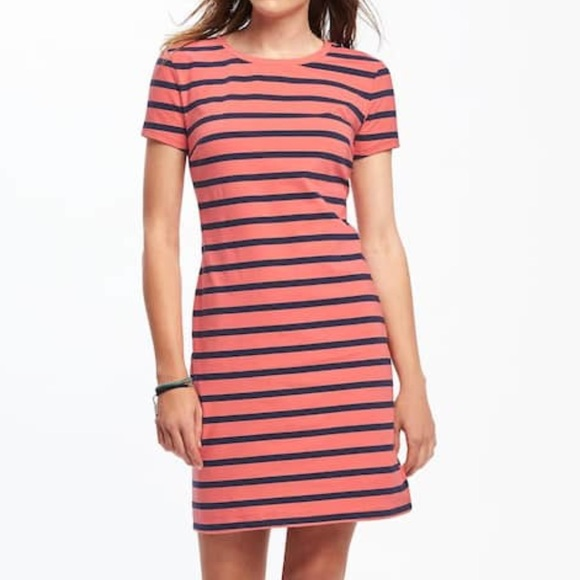 4769a7bd9b089e Old Navy Fitted Crew-Neck Tee Dress