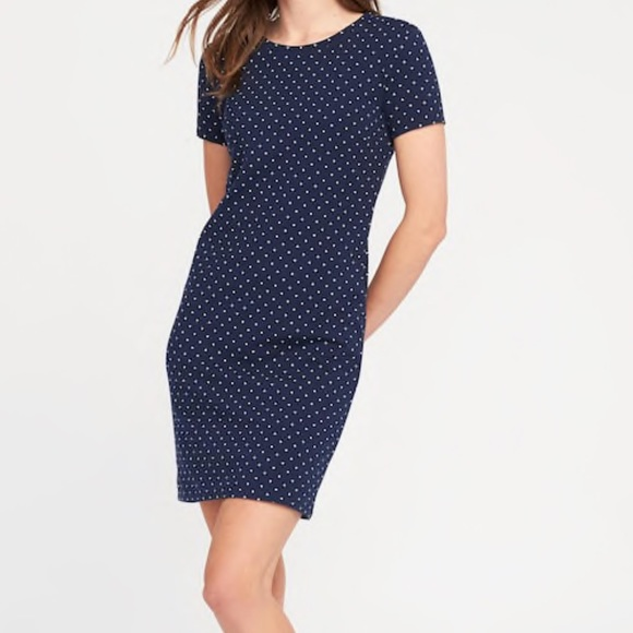 35f37759853 Old Navy Fitted Crew-Neck Tee Dress