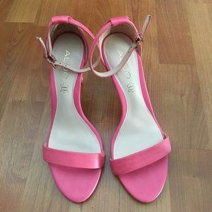 Aldo pink leather heels