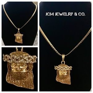 Other - 14M Gold Plated Cuban w/ Ski Mask Jesus