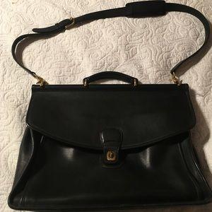 Beekman 5266 Coach Black Leather Vintage Briefcase