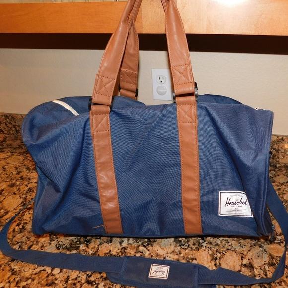 Herschel Supply Company Handbags - Herschel Novel Duffle Bag Blue Brown fad3671d76303