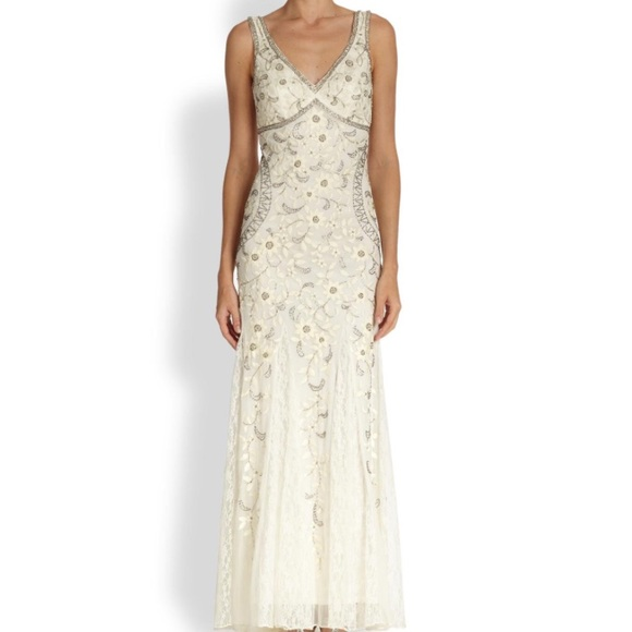 Sue Wong Dresses | Ivory Embroidered And Beaded Gown | Poshmark