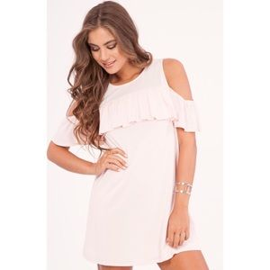 Dresses & Skirts - 1 DAY CLEARANCE✨ New pink cold shoulder dress