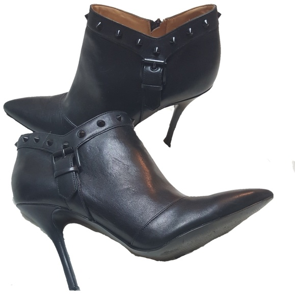 7a85155ccc8 ENZO ANGIOLINI leather spike ankle heel boots