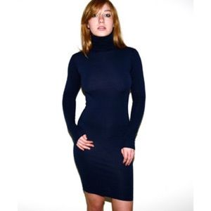 American apparel cotton spandex turtleneck dress