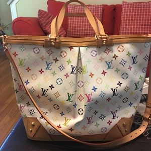 Authentic Louis Vuitton Multicolor Sharleen GM Bag