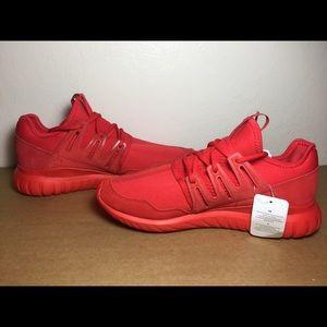 21db3c22a47 Adidas Shoes - Adidas Tubular Radial Triple Red