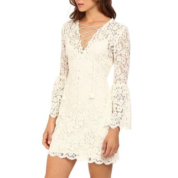 9c7063e23153 Rachel Zoe Dresses | Megali Lace Up Bell Sleeve Dress 6 | Poshmark