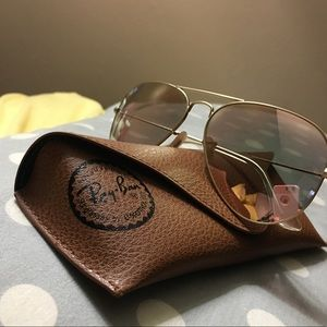 Ray-Ban Accessories - Ray Ban Copper flash (rose gold) aviators