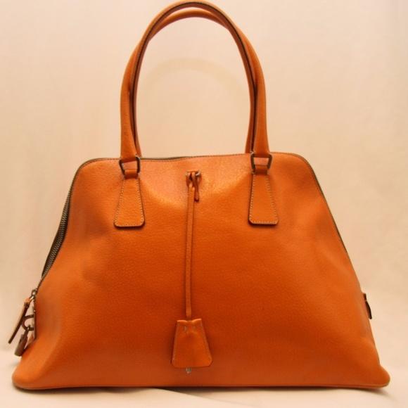 4718d606dd23 Prada Bags | Orange Leather Handbag | Poshmark