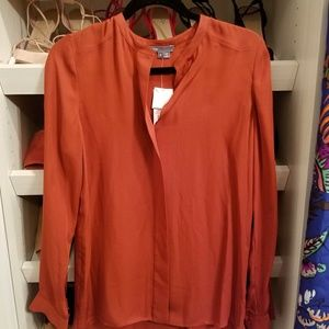 NWT Vince silk blouse size 6