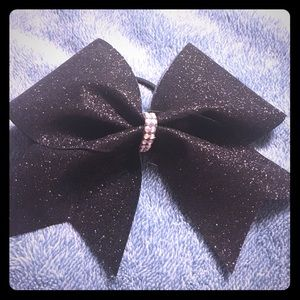 Accessories - Cheer Bow Black Glitter