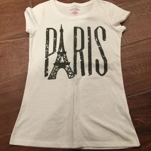 Other - Girls white and black Paris top
